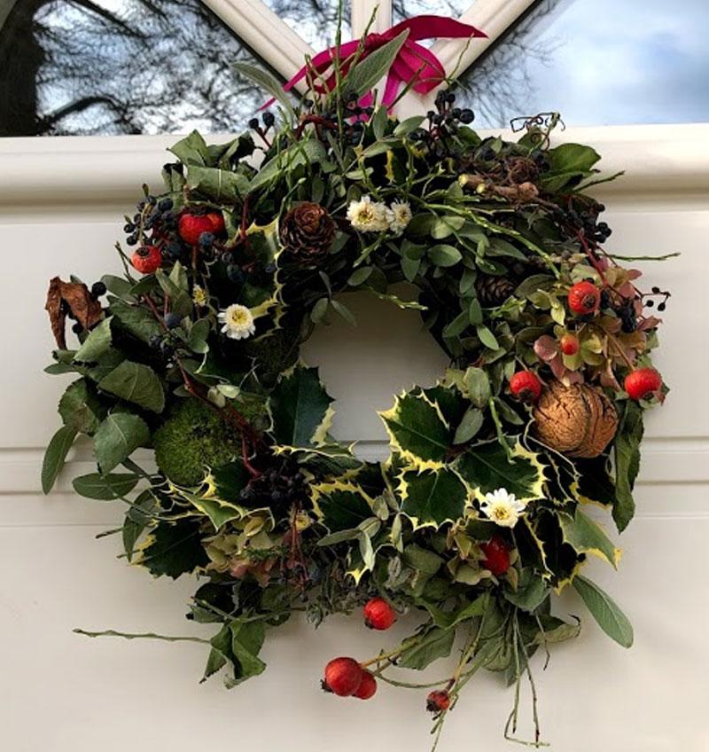 Věnec na zimu, adventní čas, vánoce, Ø 28 cm