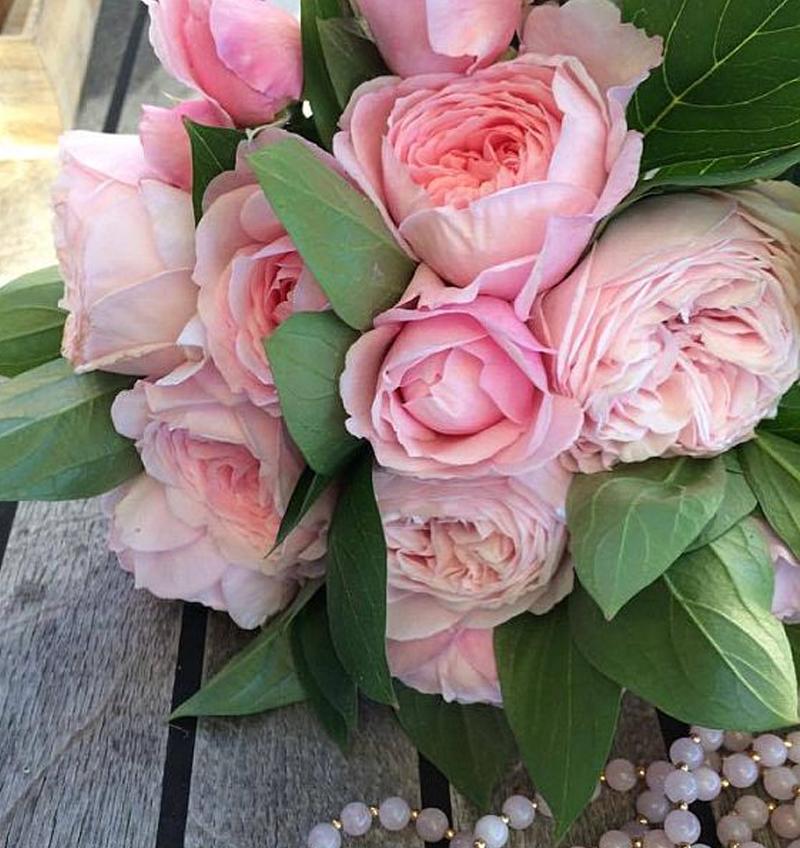 svatební kytice z anglických růží David Austin