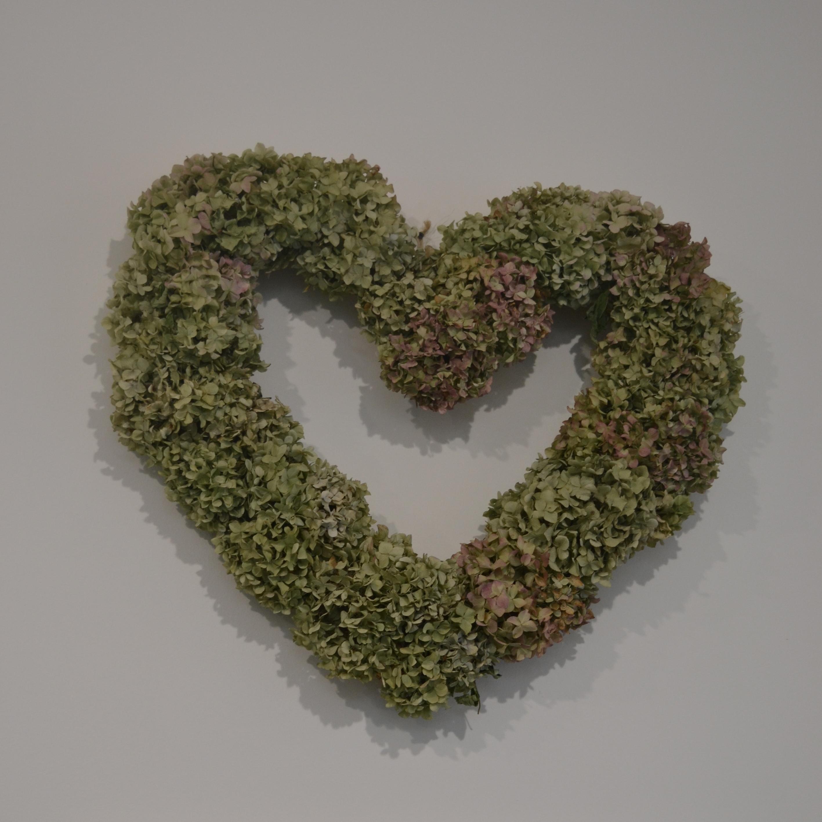 věnec z lásky obří srdce z hortenzií v.0,
